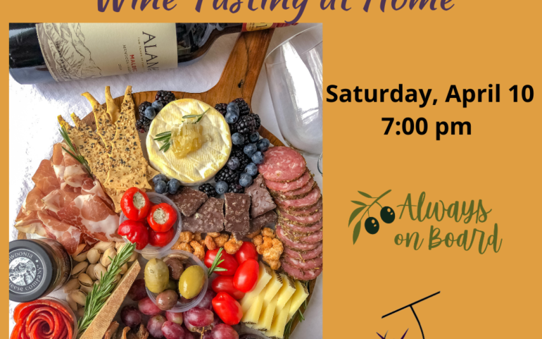 Charcuterie, Cheese, and Wine Tasting at Home