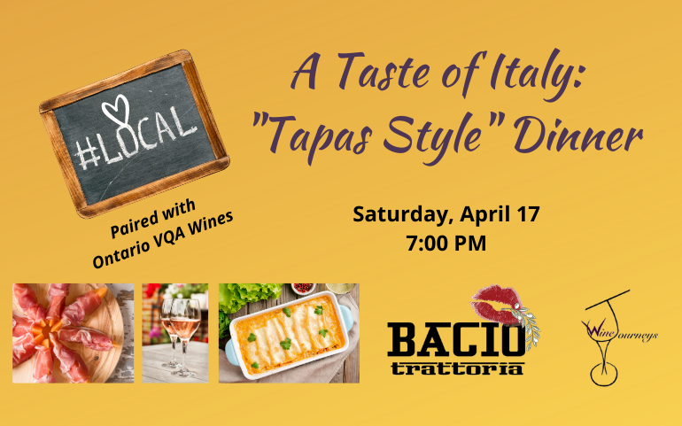 "A Taste of Italy:  ""Tapas Style"" Dinner"